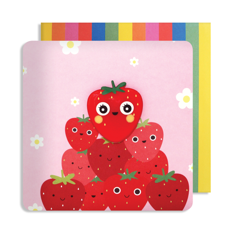 Jelly Mould Magnet Strawberry Card