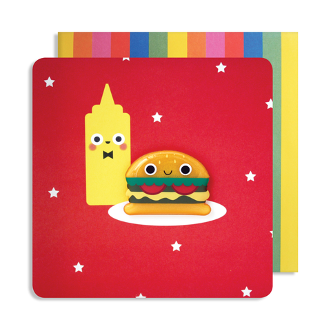 Jelly Mould Magnet Burger Card