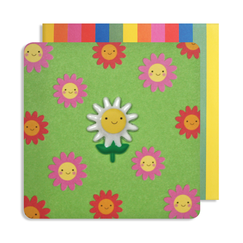 Jelly Mould Magnet Daisy Card