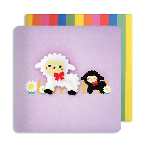 Jelly Mould Magnet Lamb Card