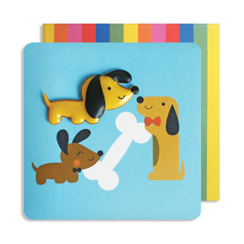 Jelly Mould Magnet Dog Card