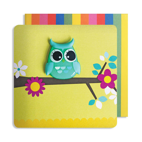 Jelly Mould Magnet Owl Card