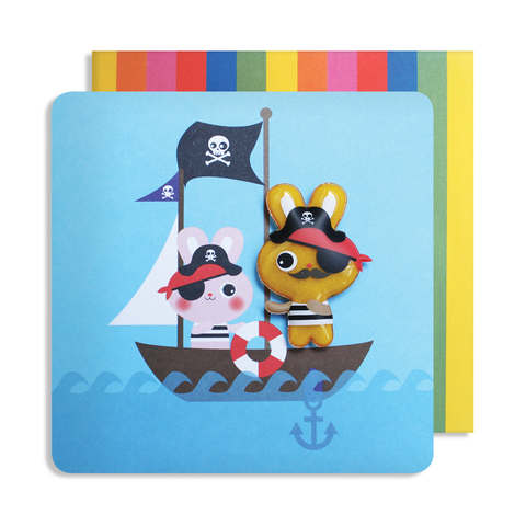 Jelly Mould Magnet Rabbit Pirate Card