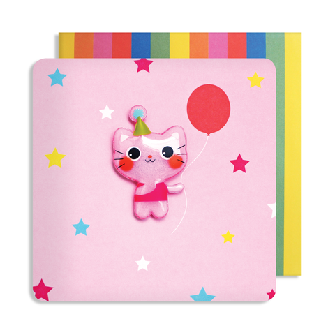 Jelly Mould Magnet Cat Card