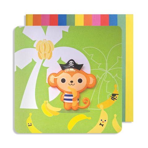 Jelly Mould Magnet Monkey Card