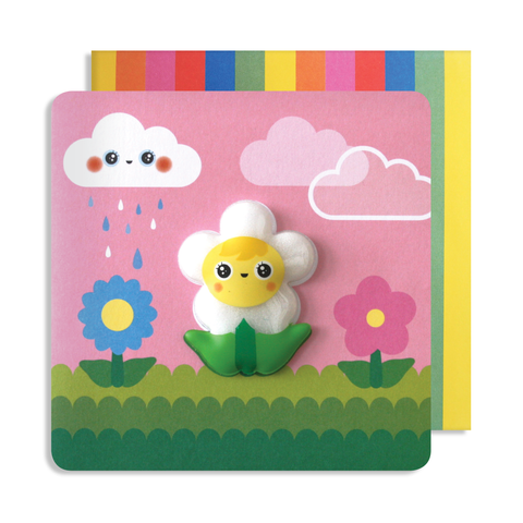 Jelly Mould Magnet Flower Card