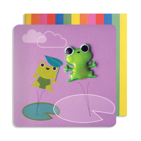 Jelly Mould Magnet Frog Card