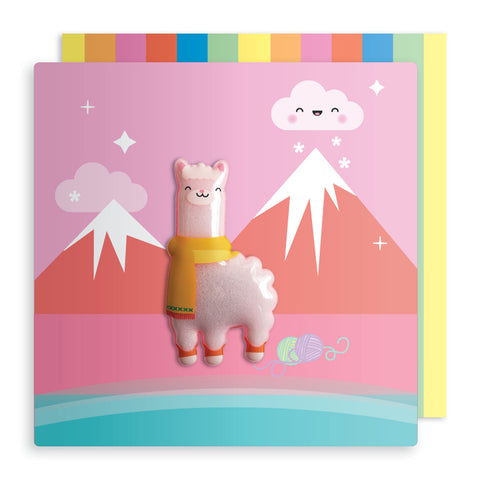 Jelly Mould Magnet Llama Card