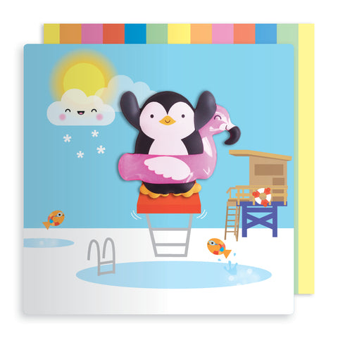 Penguin Magnet Card