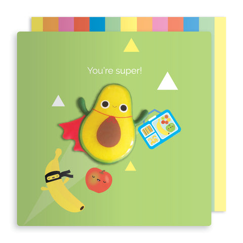 Jelly Mould Magnet Avocado Card