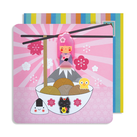 Jelly Magnet Kokeshi Card