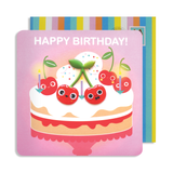 Jelly Magnet Cherry Birthday Card