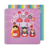 Jelly Magnet Russian Doll Card