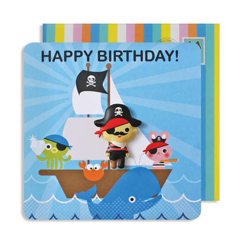 Jelly Magnet Pirate Birthday Card