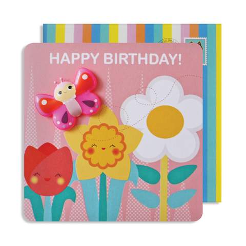 Jelly Magnet Butterfly Birthday Card