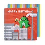 Jelly Magnet Dinosaur Birthday Card