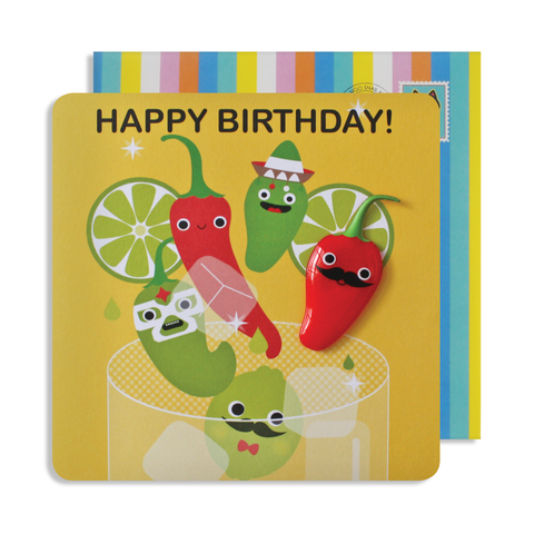 Jelly Magnet Chilli Birthday Card
