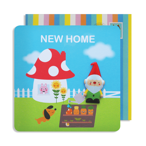 Jelly Magnet New Home Gnome Card