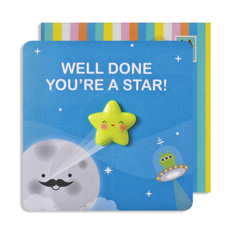 Jelly Magnet Well Done Star Card