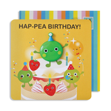 Jelly Magnet Pea Birthday Card
