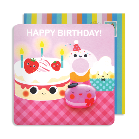 Jelly Magnet Cake Birthday Card