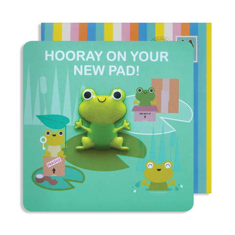 Jelly Magnet New Home Frog Card
