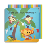 Jelly Magnet Monkey Birthday Card