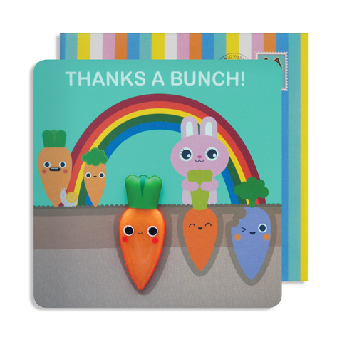 Jelly Magnet Thank You Rabbit Card