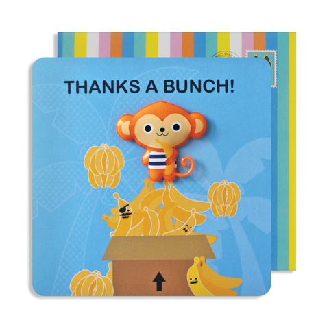 Jelly Magnet Thank You Monkey Card