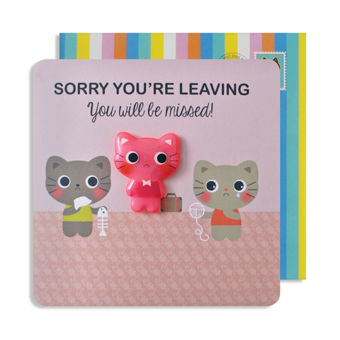 Jelly Magnet Leaving Cat Card