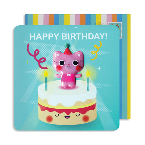 Jelly Magnet Cat Birthday Card