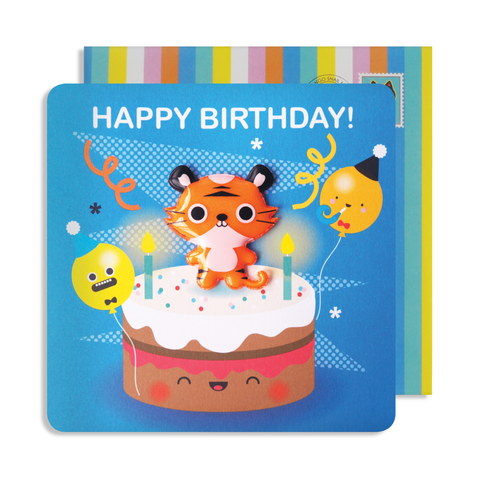 Jelly Magnet Tiger Birthday Card