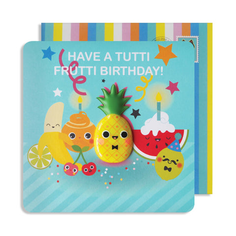 Jelly Magnet Tutti Fruitti Birthday Card