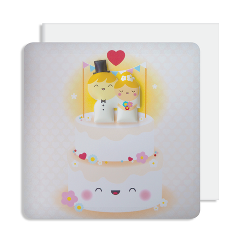 Jelly Magnet Wedding Cake Card