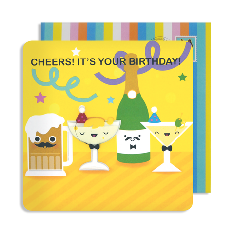 Jelly Magnet Cheers Birthday Card