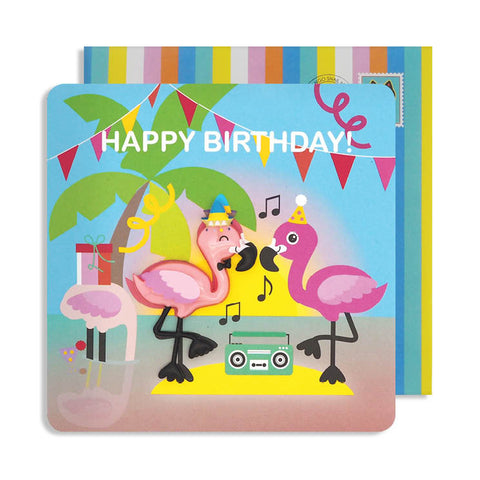 Jelly Magnet Flamingo Birthday Card