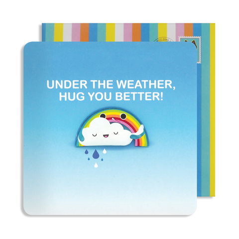 Jelly Magnet Weather Get Well Card