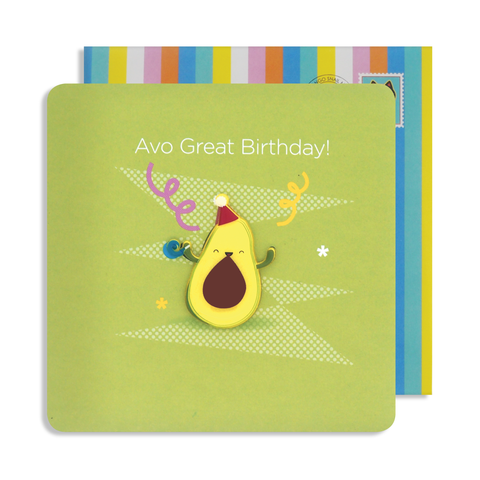 Jelly Magnet Avocado Birthday Card