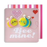 Valentines Bee Mine Double Magnet Card