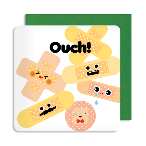 Get Well Soon Ouch Card