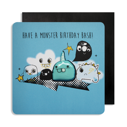 Jelly Magnet Blue Monster Card