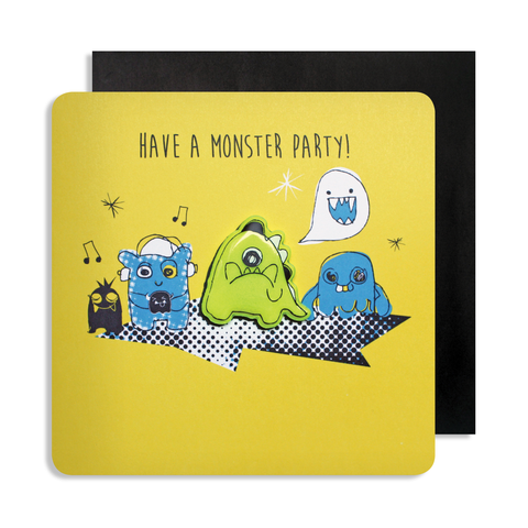 Yellow Monster Magnet Card