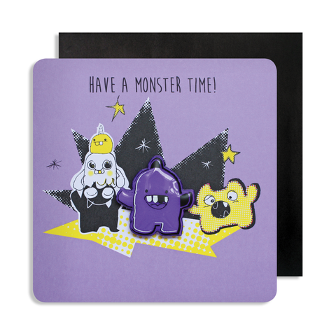 Jelly Magnet Purple Monster Card