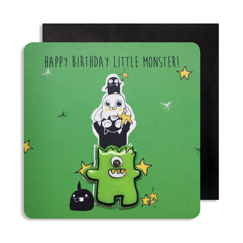 Jelly Magnet Green Monster Card