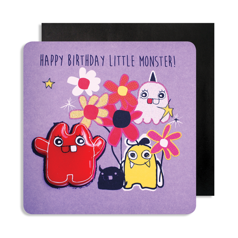 Jelly Magnet Red Monster Card