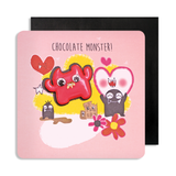 Jelly Magnet Pink Monster Card