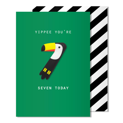 Age 7 Toucan Magnet Card