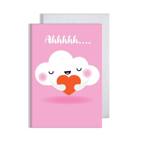 Cloud Red Ahhhh Card