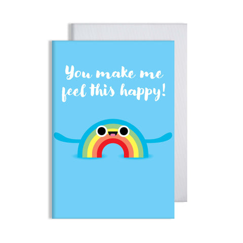 Feel Happy Rainbow Card