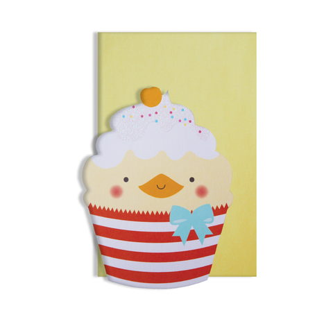 Sweet As Duck Cupcake Card